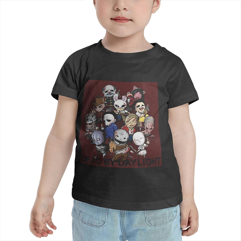 Dead by Daylight Cartoons T Shirt Boy Girls Cute Tees Cotton Shirts Short Sleeve Top for 2-6 Year Kids