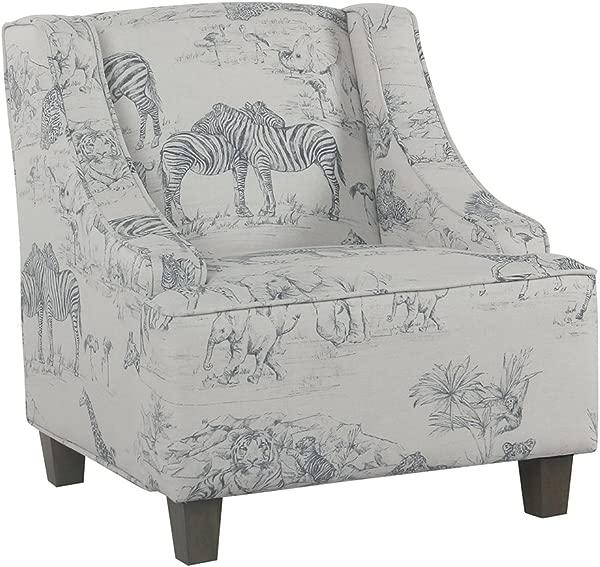 HomePop 青年软垫俯冲手臂口音椅子丛林打印