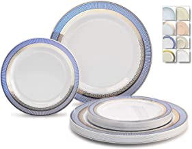 Best blue and white disposable plates Reviews