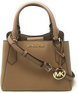 Michael Kors Women's Kimberly Small Satchel Crossbody Handbag, Leather - Dark Khaki