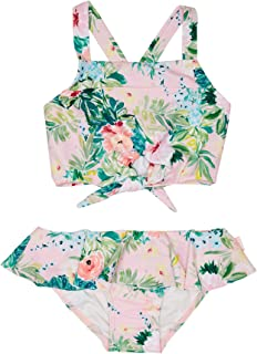 SEAFOLLY girls Tie Front Tankini Swimsuit Set Baby and Toddler Two Piece Bikini