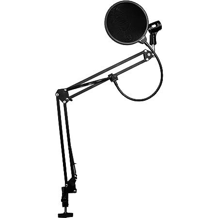 Dragonpad USA - Kit de micrófono de estudio, negro y filtro pop BLK/BLK