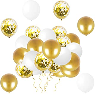 """LYVEEF Confetti Balloons 12"""" Party Balloons Latex Balloons Birthday Balloons Baby Shower Balloons Wedding Balloons for Mor..."""