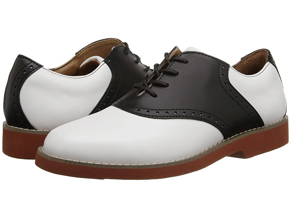 Vintage Style Children's Clothing: Girls, Boys, Baby, Toddler School Issue Upper Class Adult WhiteBlack Leather Girls Shoes $59.95 AT vintagedancer.com