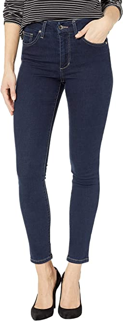 High-Rise Straight Ankle Jeans in Merina