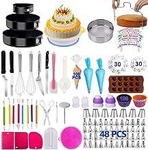 Cake Decorating Supplies 2020 Upgrade 367 PCS Baking Set with Springform Cake Pans Set,Cake Rotating Turntable,Cake Decora...
