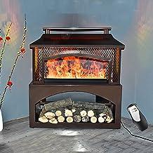 Chimenea eléctrica atomizada de fuego de simulación 3D, decoración del hogar Calentador de espacio grande con control remoto, Calentador de estufa de chimenea de esquina con función de humidificación