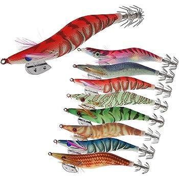5 x Simulation Garnelen Angelköder Leuchtende Garnelenköder Tintenfisch