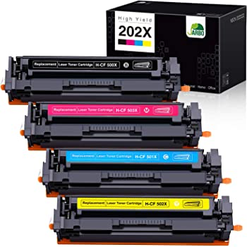 Plus is 4 Times Cheaper!1500 pages-4pack You Have Found The Perfect Replacement Compatible Toner Cartridge Replacement for HP 202a HP Color Laserjet Pro M254nW M254dw M280nw M281fdn Printer