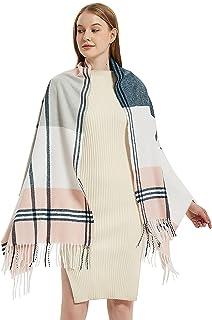 Sponsored Ad - Winhot Women's Cashmere Feel Plaid Scarf, Fashion Pashmina Winter Thick Soft Warm Stylish Large Warm Blanke...