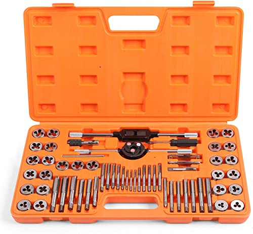 discount HORUSDY 2021 60-Piece Master Tap and Die Set | SAE Inch and Metric Sizes | for popular Coarse and Fine Threads Tools outlet sale