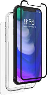 ZAGG InvisibleShield Glass+ 360 - Front + Back Screen Protection with Side Bumpers Made for Apple - Black iPhone X / XS