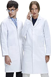 Dr. James Unisex Lab Coat, Classic Fit, Smartphone and Tablet Pockets, White, 40 Inch Length