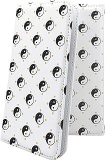 ケース isai V30+ LGV35 互換 手帳型 和柄 和風 日本 japan 和 勾玉 まがだま イサイ プラス デザイン イラスト isaiv30 plus 模様