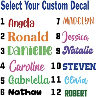 Premium Glitter Vinyl Decal Stickers Size 5 /& 3 MIX /& MATCH 2 Layers Multiple Colors Outdoor Dishwasher Safe UV Protection Anti-Scratch Any One Word SET OF 2 PERSONALIZED DECAL WITH YOUR NAME