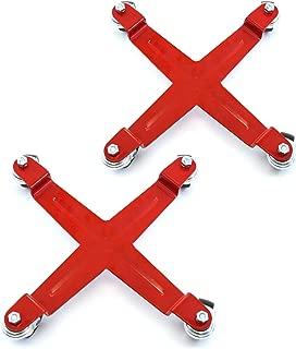 2) Heavy Duty 5 Gallon Drum Bucket Dolly Dollies Steel Frame Easy Push Roll Swivel Casters