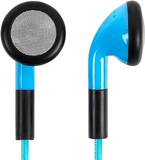 DURAGADGET LED Flashing Earphones - Glowing Neon Light-Up USB Rechargeable Earphones in Dazzling Blue - Suitable for Lexibook Disney Princess' CD Player RCD108DP Doctora Juguetes CD Player RCD102DM