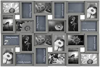 Jerry & Maggie - Photo Frame Gray Classic 22 x 34 Picture Frame Selfie Gallery Collage Collection Wall Hanging for 6x4 Photo - 24 Sockets Union Display Picture Frame Memories - Wall Mounting Design