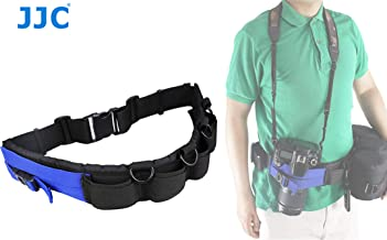 JJC GB-1 Adjustable Photography Utility Belt, Wrist Waistband Belt, Accessory Belt, Speed Belt, for Carrying Gear Bag Case, Lens Pouch, Flash Accessories, Belt Components, D-Rings, Breathable 3D Mesh