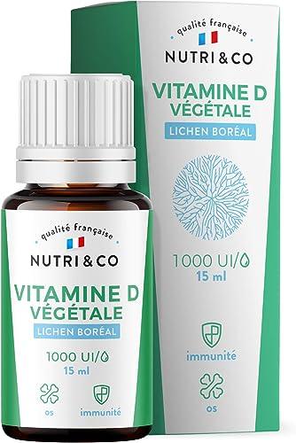 Vitamine D3 Végétale + Huile de Colza BIO | 1000 UI par Goutte | Santé des Os, Dents, Muscles et Système Immunitaire ...