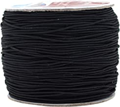 Mandala Crafts Elastic Cord Stretchy String for Bracelets, Necklaces, Jewelry Making, Beading, Masks (Black, 1mm 109 Yards)