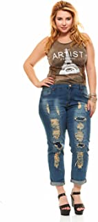 Women's Juniors Ripped Distressed Repaired Skinny Jeans