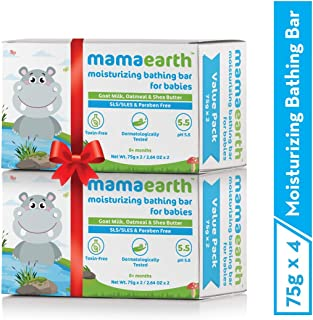 Mamaearth Bathing Bar for Babies Gentle Bath and Skin Care- Pack of 4