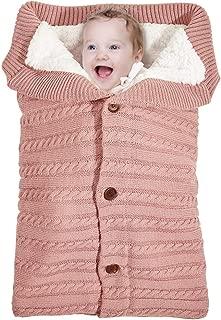 MHJY Baby Swaddle Blanket Wrap Newborn Sleeping Bag Warm Knitted Fleece Stroller Wrap Infant Swaddle Wrap for Unisex Baby Shower Gift