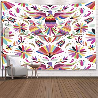 Jacrane Tapestry Wall Hanging with 60x50 Inches Mexican Pattern Art Tapestries for Bedroom Living Room Home Decor Wall Hanging Tapestries