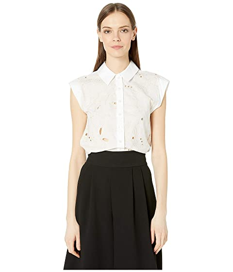 See by Chloe Sleeveless Embroidered Floral Blouse