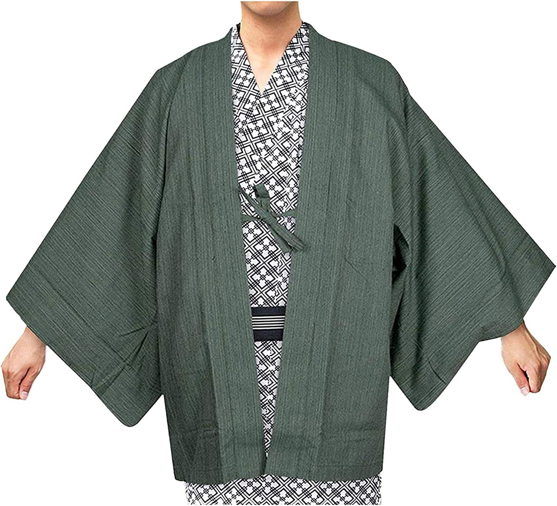 KYOETSU Men's Japanese Ryokan Haori Single item