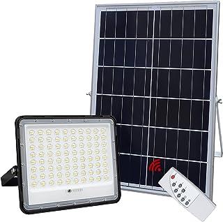300W LED Solar Flood Lights,24000Lumens Street Flood Light Outdoor IP67 Waterproof with Remote Control Security Lighting f...