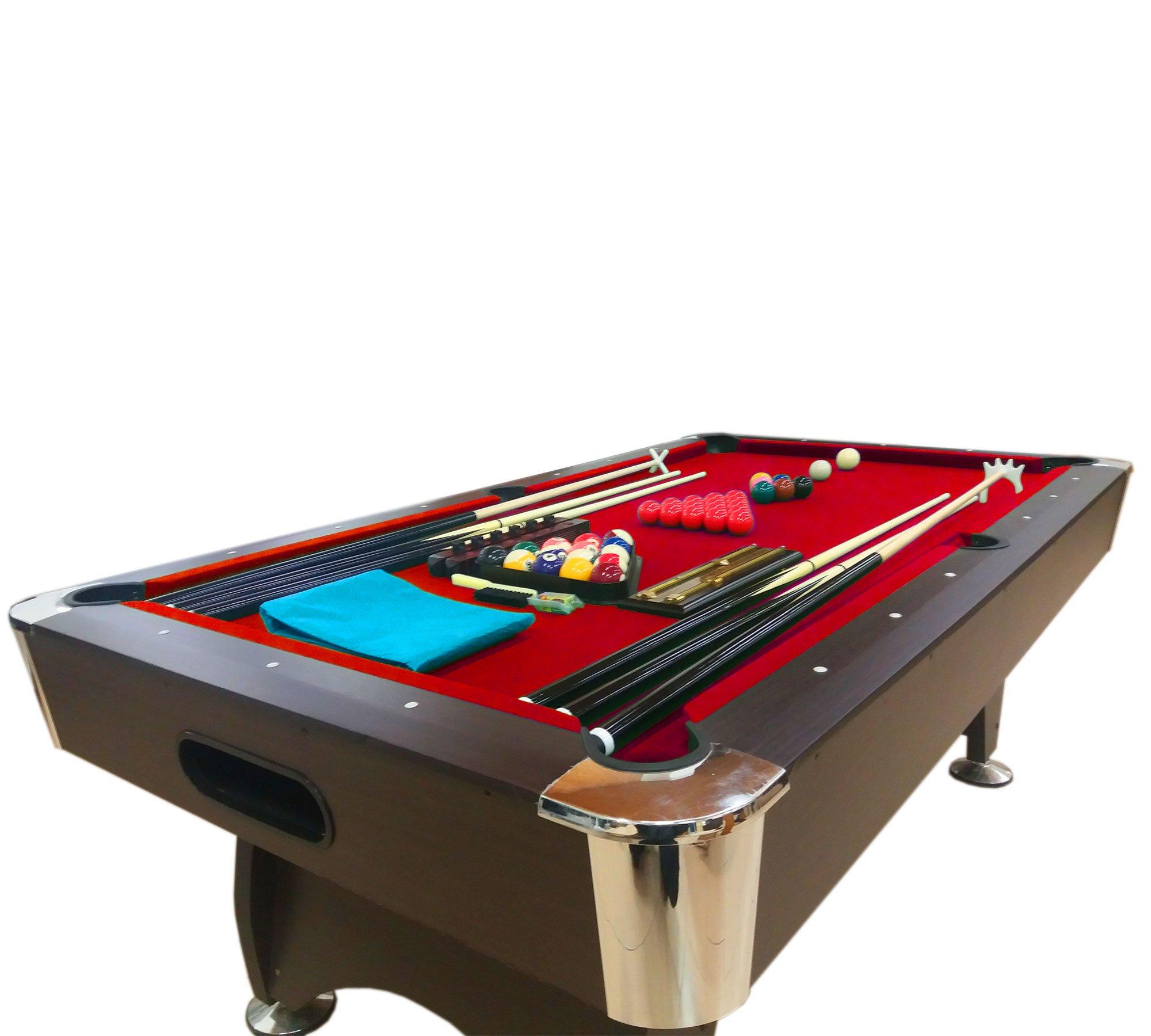 Simba Srl Mesa de Billar Juegos de Billar Pool 7 ft Medición de 188 X 96 cm Full Carambola: Amazon.es: Deportes y aire libre