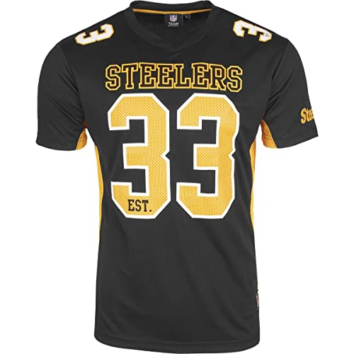 2c9ddf4ce4f Majestic Pittsburgh Steelers Moro Est. 33 Mesh Jersey NFL T-Shirt