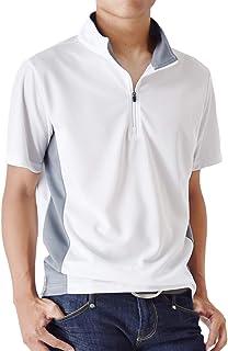 (アローナ)ARONA ポロシャツ メンズ 無地 速乾 ハーフジップカットソー 半袖 ゴルフウェア /M1.5/