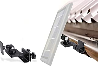 Wasserstein Gutter Mount Compatible with Ring, Arlo, Reolink Cams & Compatible Solar Panels (Black)