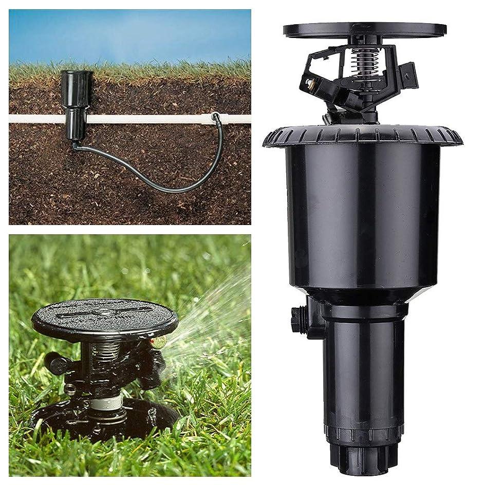 上へ感性否定する点滴灌漑キット、 360度ポップアップウォータースプレーノズル芝生のスプリンクラーダブルアームヤードガーデン点滴灌漑システムブラック 庭の灌漑と散布 (Color : Black, Size : ONE SIZE)