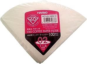 Hario V60 02 Dripper Filtresi, 100 Adet