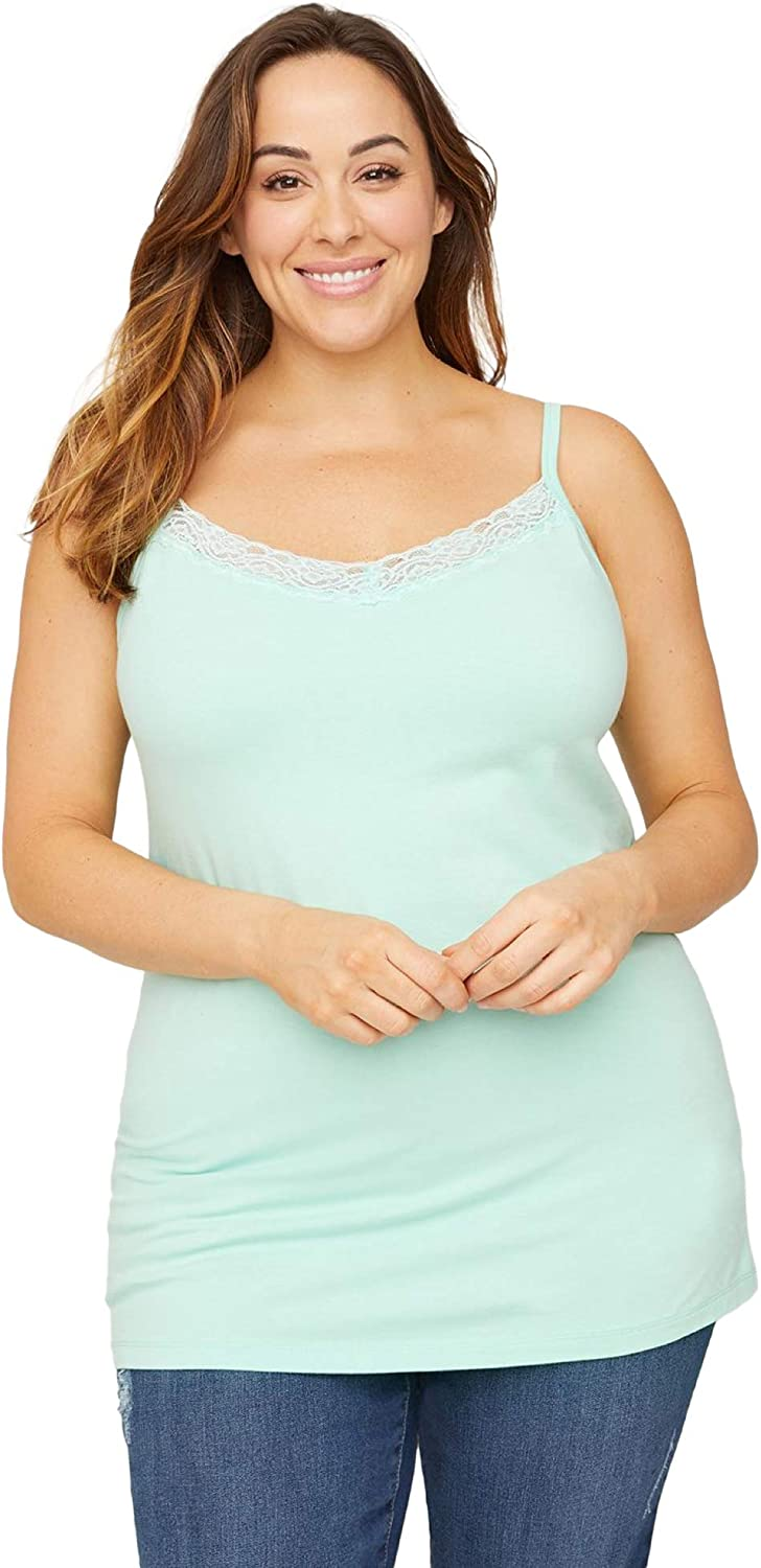 Catherines Women's Plus Size Suprema Cami with Lace