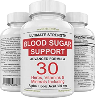 Blood Sugar Support Supplement - 30 Herbs, Vitamin & Minerals Formula for Diabetic Blood Sugar Control & Extra Energy with...