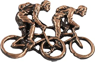 Creative Pewter Disegni Due Biciclers Pin, A242A