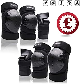 Protective Gear Set forYouth/Adult Knee Pads Elbow Pads Wrist Guards for Skateboarding Roller Skating Cycling Bike BMX Bicycle Scootering 3Pairs