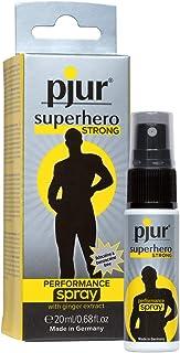 pjur superhero STRONG performance spray - Geconcentreerde vertragingsspray voor mannen - gemberextract voor langere presta...