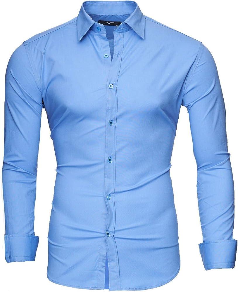 Kayhan, originale camicia per uomo, maniche lunghe, 97% cotone, 3% elastan A-TwoFace-0000135A