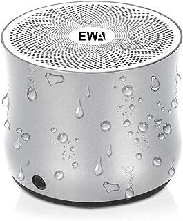 EWA A2Pro Bluetoothスピーカー 防水IPX6防水仕様・強化された低音・コンパクト設計・マイク内蔵お風呂/キッチン/アウトドア対応 (シルバー)