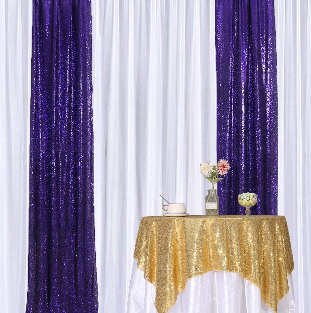 6Ft /× 7Ft, Champagne Shimmer Sequin Fabric Photography Backdrop Glitter Background Sequence Curtain