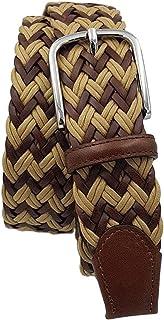 ESPERANTO Cintura intrecciata uomo donna con treccia cotone e cuoio, puntali vera pelle e fibbia nichel free anallergica 3...