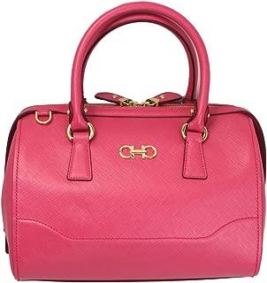 Ferragamo Women's Gancini Pink Leather Hand Bag 21F869 W/strap
