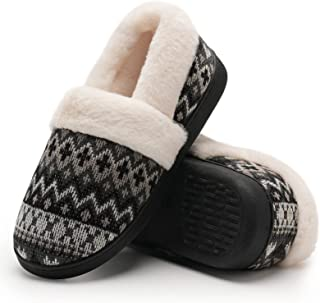 Sponsored Ad - Womens-Slippers Fuzzy Warm House-Shoes Memory-Foam Anti-Slip Home-Bedroom Indoor-Outdoor Winter-Knitted-Sli...