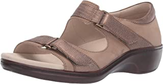 Aravon Women's Duxbury Two Strap Sandal, Taupe, 105 B US